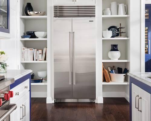 Sub Zero Refrigerator Blue White Kitchen Wilshire Refrigeration Appliance